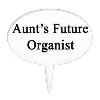 Aunt's Future Organist Cake Topper