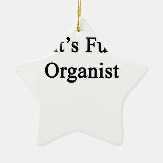 Aunt's Future Organist Ceramic Ornament