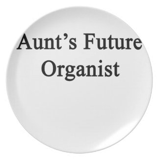 Aunt's Future Organist Dinner Plate