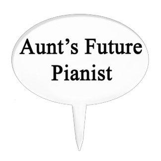 Aunt's Future Pianist Cake Topper