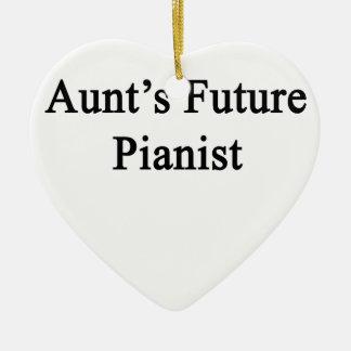 Aunt's Future Pianist Ceramic Ornament
