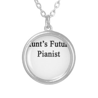 Aunt's Future Pianist Silver Plated Necklace