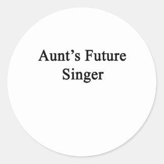 Aunt's Future Singer Classic Round Sticker