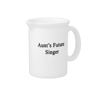 Aunt's Future Singer Drink Pitcher