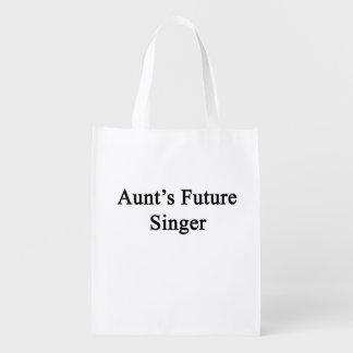 Aunt's Future Singer Grocery Bag