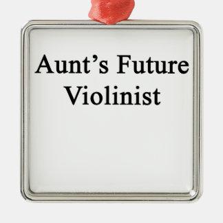 Aunt's Future Violinist Metal Ornament