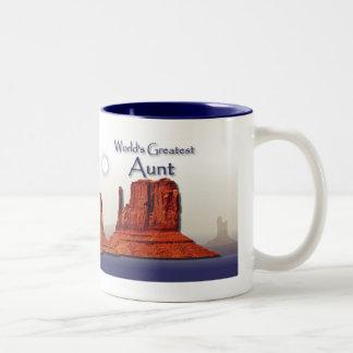 Aunt's Loving Hands Blue Mug
