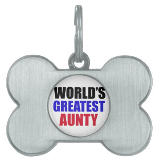 Aunty design pet ID tag