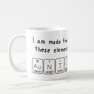 Aunty periodic table name mug