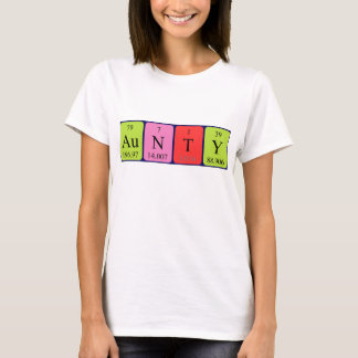 Aunty periodic table name shirt