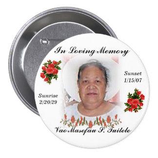 Aunty Vao's funeral pin