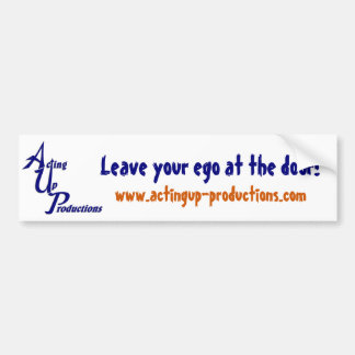 "AUP ""Leave Your Ego At the Door"" Bumper Sticker"