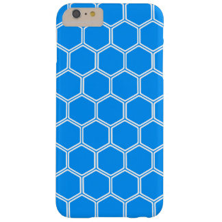 Auqa Blue Hexagon1 Barely There iPhone 6 Plus Case