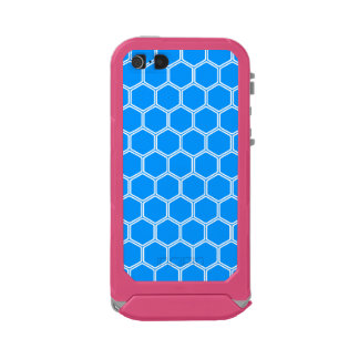 Auqa Blue Hexagon1 Waterproof Case For iPhone SE/5/5s