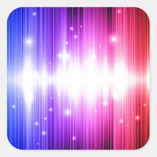 aura crazy color attack square stickers