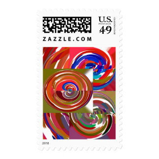 Aura Cycles - Color Therapy n Meditation Mandala 1 Postage Stamp