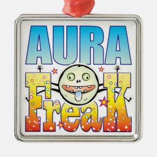 Aura Freaky Freak Square Metal Christmas Ornament