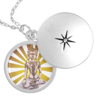 Aura Round Locket Necklace