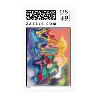 Aura Of A Flower Postage Stamp