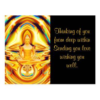 Aura,strength & Meditation_ Postcard
