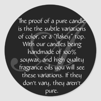Aura-The Proof Classic Round Sticker