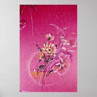 Aura Yellow flowers Print