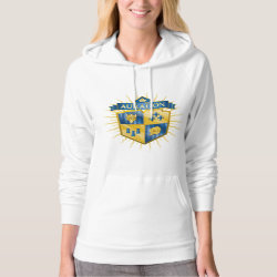 Women's American Apparel California Fleece Pullover Hoodie with Descendants Auradon Prep Crest design