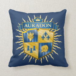 Descendants Auradon Prep Crest Cotton Throw Pillow