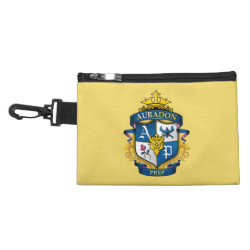 Clip On Accessory Bag with Descendants Auradon Prep Fancy Crest design