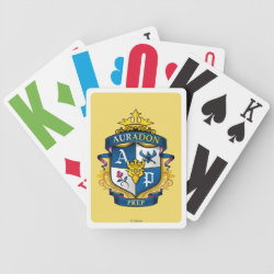 Playing Cards with Descendants Auradon Prep Fancy Crest design