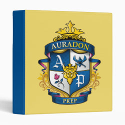 Avery Signature 1' Binder with Descendants Auradon Prep Fancy Crest design