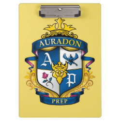 Clipboard with Descendants Auradon Prep Fancy Crest design