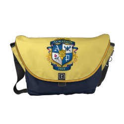 Rickshaw Medium Zero Messenger Bag with Descendants Auradon Prep Fancy Crest design