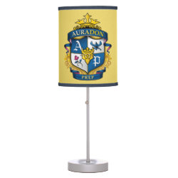 Table Lamp with Descendants Auradon Prep Fancy Crest design