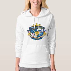 Women's American Apparel California Fleece Pullover Hoodie with Descendants Auradon Prep Fancy Crest design