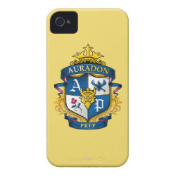 Case-Mate iPhone 4 Barely There Universal Case with Descendants Auradon Prep Fancy Crest design