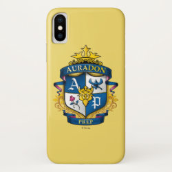 Case-Mate Barely There iPhone X Case with Descendants Auradon Prep Fancy Crest design