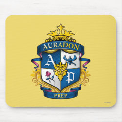 Mousepad with Descendants Auradon Prep Fancy Crest design