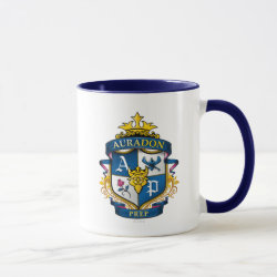 Combo Mug with Descendants Auradon Prep Fancy Crest design