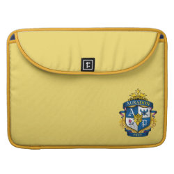 Macbook Pro 15' Flap Sleeve with Descendants Auradon Prep Fancy Crest design