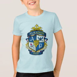 Kids' American Apparel Fine Jersey T-Shirt with Descendants Auradon Prep Fancy Crest design