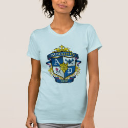 Women's American Apparel Fine Jersey Short Sleeve T-Shirt with Descendants Auradon Prep Fancy Crest design