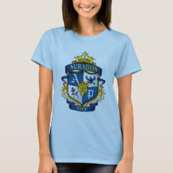 Women's Basic T-Shirt with Descendants Auradon Prep Fancy Crest design