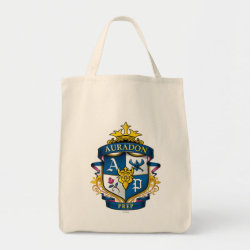Grocery Tote with Descendants Auradon Prep Fancy Crest design