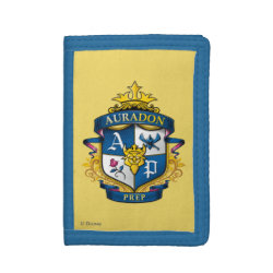 TriFold Nylon Wallet with Descendants Auradon Prep Fancy Crest design