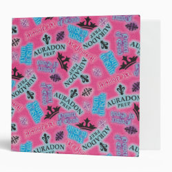 Avery Signature 1' Binder with Descendants Auradon Prep Pink Pattern design
