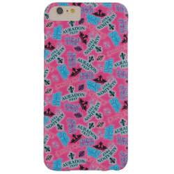 Case-Mate Barely There iPhone 6 Plus Case with Descendants Auradon Prep Pink Pattern design
