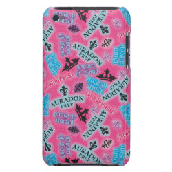Case-Mate iPod Touch Barely There Case with Descendants Auradon Prep Pink Pattern design