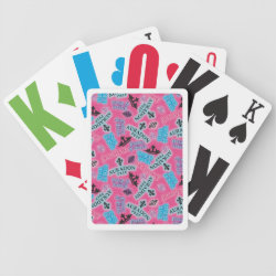Playing Cards with Descendants Auradon Prep Pink Pattern design