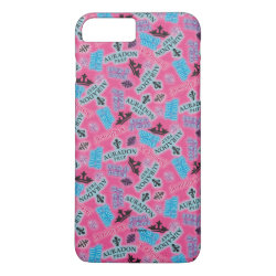 Case-Mate Tough iPhone 7 Plus Case with Descendants Auradon Prep Pink Pattern design